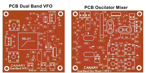 osc mixer vfo pcb